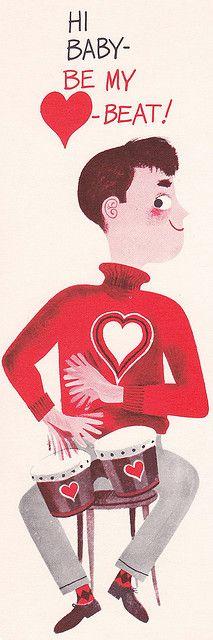 Hi Baby - Be My Beat! Vintage Card