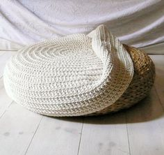 CLEVER!!!  Crochet stool cover. €52.00, via Etsy.