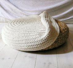 CLEVER!!!  Crochet stool cover. €52.00, via Etsy.