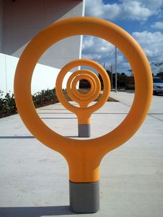 Bike Rack by Spanish designers Santa & Cole. Installed at Fort Lauderdale, Fla.