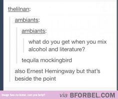 When You Mix Alcohol And Literature…