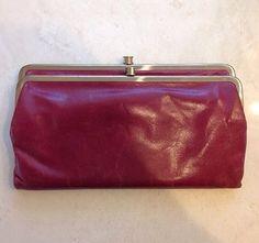 Hobo International Wallet (Women's Pre-owned Purple Leather Clutch Designer Wallet)