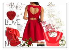 """""""Red Love"""" by meldin ❤ liked on Polyvore featuring Charlotte Russe, Rocio, Niche Modern, L'Oréal Paris, women's clothing, women's fashion, women, female, woman and misses"""