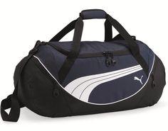 PUMA 59L Teamsport Formation 24 Inch Navy Duffel Bag for Travel or Gym - New #Puma
