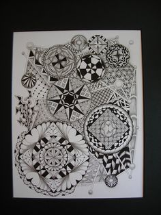 Tangled Ink Art: My Mandala's Doodle Designs, Doodle Patterns, Zentangle Patterns, Tangle Art, Doodles Zentangles, Zen Art, Pattern Drawing, Art Studies, Mandala Art