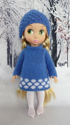 handmade Outfit for Disney Animators 15 doll  blue by InaPlusAlina