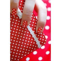 Red polka dot nails