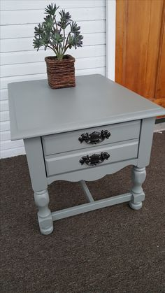 Refinished End Table by #zombieQUEENxoxo