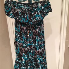 Blue black and grey patterned dress. It is missing a belt but is in good condition. Rue 21 Dresses Mini