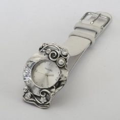 SHABLOOL watch,women watch,bracelet watch,sterling Silver watch,Leather bracelet watch,jewelry from israel,silver watch,pearl watch by theholylandjewelry on Etsy