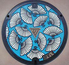 Manhole Cover Art - shiga Japan