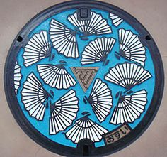 Manhole Cover Art - shiga Japan