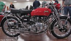 The 1951 Vincent Rapide was perhaps the world's premium motorcycle at the time. Eye-popping pictures, specs, history & more. British Motorcycles, Cool Motorcycles, Vintage Motorcycles, Motorcycle Price, Motorcycle Posters, Classic Bikes, Classic Cars, Classic Motorcycle, Vincent Black Shadow