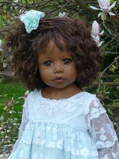 "She's purty. :)  Masterpiece Dolls CALISTA Black Hair by MONIKA LEVENIG 34"" Vinyl - Store NEW"