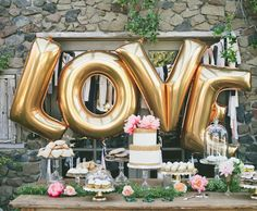 "4pcs/lot 40"" Large Gold /Silver LOVE Aluminum Foil Balloon Wedding Festival Decoration Ballons Valentine Anniversary Balloons-in Balloons from Toys & Hobbies on Aliexpress.com 