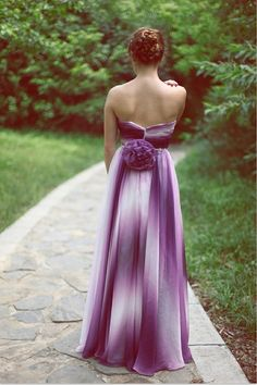 Original Design! / Purple gradient Chiffon Bridesmaid Dress Prom Dress Purple by avivaly
