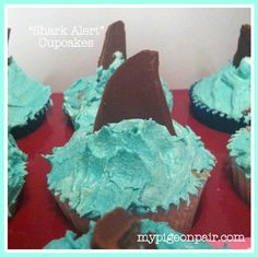 """Perfect for a """"Fish' themed birthday party! First Birthday Parties, 4th Birthday, Birthday Party Themes, First Birthdays, Birthday Ideas, Fish Cupcakes, Fish Theme, Fun Cakes, Under The Sea Party"""