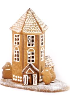cute house not sure about the moomins. Christmas Gingerbread House, Christmas Cookies, Gingerbread Houses, Christmas Time, Xmas, Old Fashioned Christmas, Christmas Traditions, Cookie Decorating, Free Food