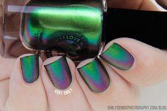 Very Emily » I Love Nail Polish – Ultra Chromes Swatches - Mutagen