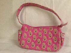 3e18229e8f Vera Bradley Bermuda Pink Handbag Maggie Small Shoulder Bag Pink White Green   VeraBradley  ShoulderBag
