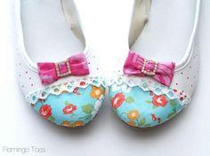 DIY Shoe Refashion: DIY Boutique Style Flats – Shoe Refashion: DIY Shoes: DIY Fashion: DIY Refashion: DIY Upcycle