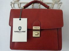 TUMBLE & HIDE ITALIAN LEATHER GRAB BAG - NEW WITH TAGS