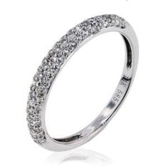 Arthurs Collection Diamond Pave Set White Gold Womens Wedding bands DR1577B-35 #ArthursJewelers