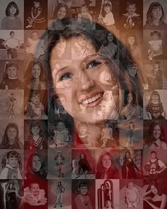 Unique, Personalized Graduation Gift - Photo Collage Mosaic (8x10 or 10x10 inch) for High School Grad, University Grad or College Grad on Etsy, $75.00