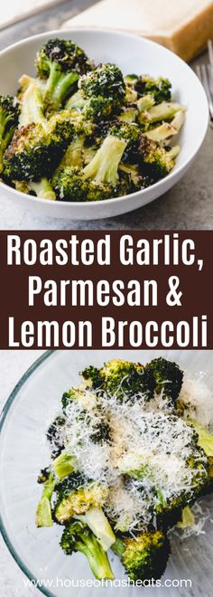 Oven Roasted Broccoli with Garlic Parmesan and Lemon is a delicious and healthy side dish recipe that goes great with almost any meal Roasting broccoli in the oven. Low Carb Side Dishes, Veggie Side Dishes, Healthy Side Dishes, Vegetable Sides, Side Dish Recipes, Food Dishes, Dinner Recipes, Broccoli Recipes Side Dish Healthy, Brocolli Side Dishes