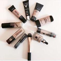 """339 """"Μου αρέσει!"""", 4 σχόλια - styliciouss Life (@styliciousslife) στο Instagram: """"Which one is your favourite foundation ?? . . Brush : @realtechniques  From left (start) to right…"""""""