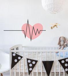 Simple Heartbeat als Wandtattoo