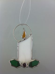 "Stained Glass 3"" Mini Candle Ornament"