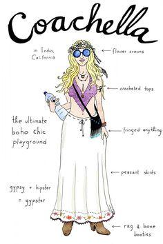 Coachella Archetype by the genius Joana Avillez for Refinery29.