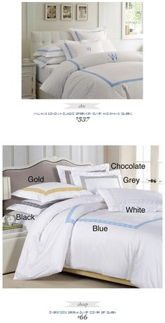 Copy Cat Chic Find | WILLIAMS SONOMA CLASSIC GREEK-KEY DUVET AND SHAMS (QUEEN) vs OVERSTOCK SERENA DUVET COVER SET QUEEN