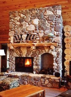 Fireplace With Built In Wood Storage Niches And Rough Hewn Mantle Fireplaces Pinterest Wood Storage And Mantle