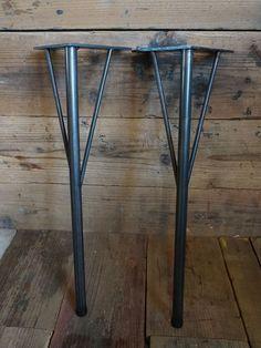 画像2: ≪鉄脚≫【黒皮仕様 カフェテーブル脚 55cm/ビス付/4本1セット】 (2)