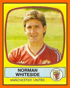 Old School Panini: UK Football Team - Manchester United 1988 Manchester United Players, Manchester United Football, Football Stickers, Football Cards, Northern Ireland Fc, Norman Whiteside, Uk Football Teams, Liverpool, Der Club