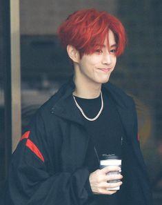 Mark looks cool in red hair Got7 Jackson, Jackson Wang, Mark Jackson, Youngjae, Kim Yugyeom, Jaebum, Girls Girls Girls, K Pop, Go7 Mark