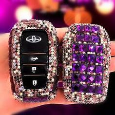 Keys on their own are not that cute, but that problem is solved with cute car accessories. Why should you carry around your keys on their own when you can put them in this girly, bedazzled key case instead? Purple car accessories are a great way to make your outfit more cool, and the fluffy pompom combined with the chunky bling is the perfect balance of fluffy and sparkly. Make sure to get a couple of these for gifts too, they are great because it is the type of gift people don't remember to…