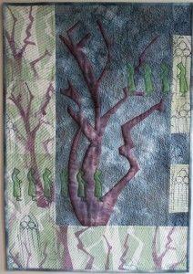 Quilt made following Edwina Mackinnon's class, Inspired by Art
