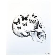 Inreda.com - Poster Skull Vit, Vanilla Fly