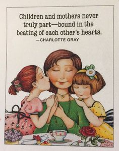 Children And Mothers-Handmade Fridge Magnet-Mary Engelbreit Artwork