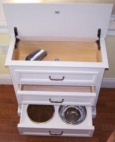 dog bowl and food storage