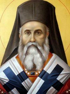 Saint Nectarios of Aegina Archangel Prayers, Byzantine Icons, Orthodox Christianity, Orthodox Icons, Dear God, Kirchen, Christian Faith, Christmas Art, Mythical Creatures