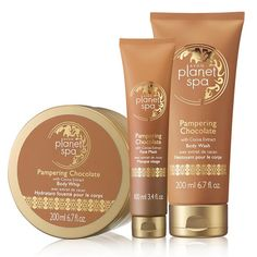 12 Days of Deals! Day 11:Free 3-Piece Planet Spa Gift Set with your $55 order! Use code:PAMPER EXPIRES MIDNIGHT ET, 12/10/16. MAIL DELIVERY ONLY. Avon reserves the right to substitute any free item offered with an item of equal or greater value. Limit one per order.This bundle includes: Planet Spa Pampering Chocolate Body Whip Planet Spa Pampering Chocolate Body Wash Planet Spa Pampering Chocolate Face Mask