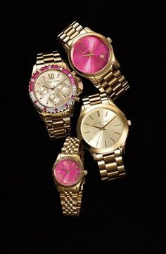 Shiny Pink Watches!
