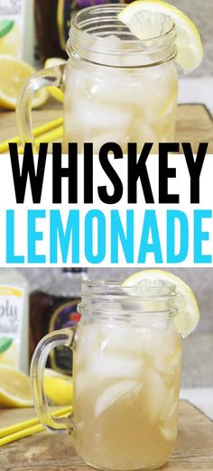 Whiskey Lemonade Is Tart Sweet And Refreshing Easy To Make * whisky limonade ist süß und erfrischend einfach zu machen Whiskey Lemonade Is Tart Sweet And Refreshing Easy To Make * Whiskey Mixed Drinks, Whiskey Lemonade, Lemonade Cocktail, Whiskey Cocktails, Cocktail Drinks, Cocktail Recipes, Cocktail Ideas, Party Drinks, Fun Drinks
