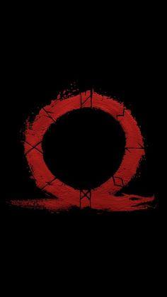 God of war, omega, logo, video game, minimal, 720x1280 wallpaper