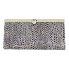Dorothy perkins patent crocodile skin effect purse with clasp 2 colours