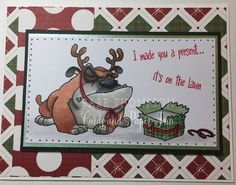 Christmas card by Whimsy Stamps Grumpy Holiday